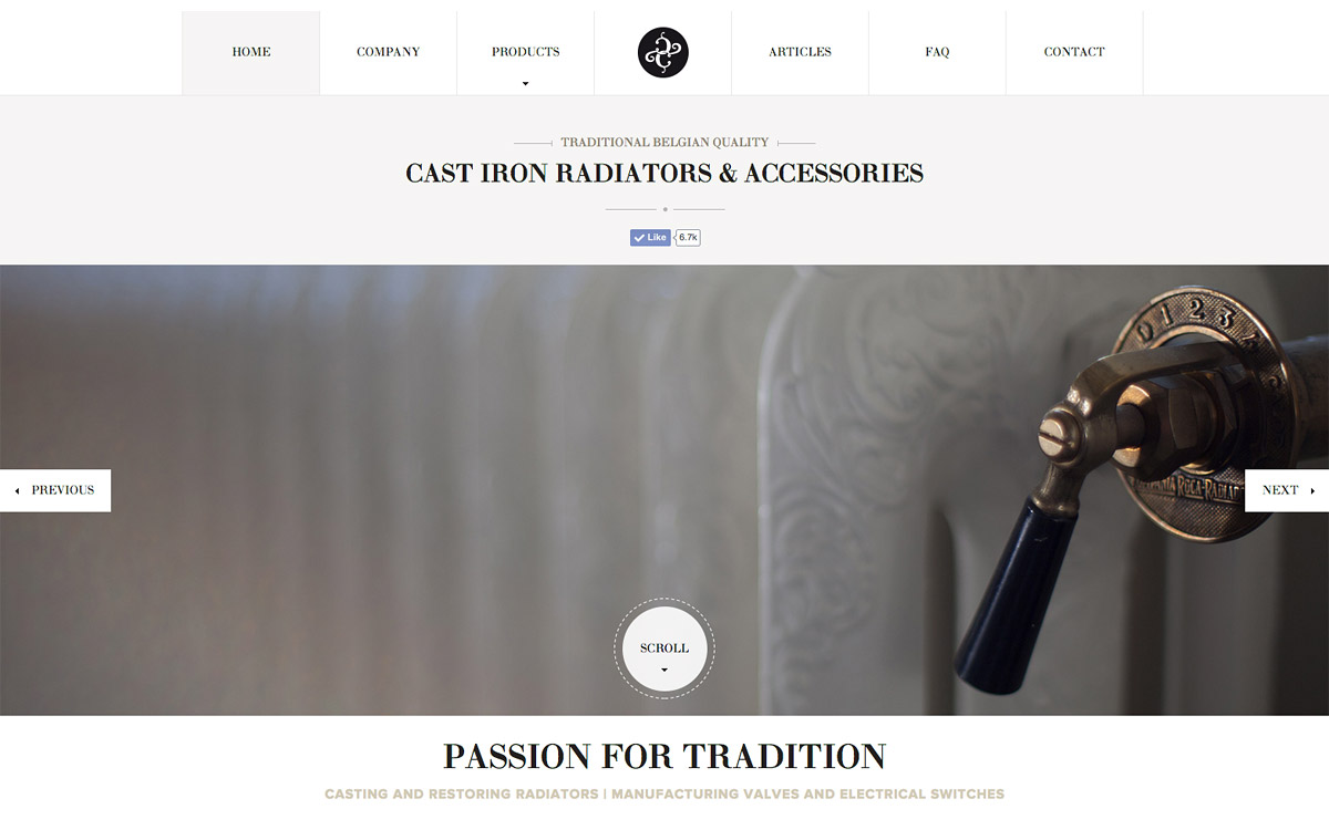 Classic Comfort WordPress website