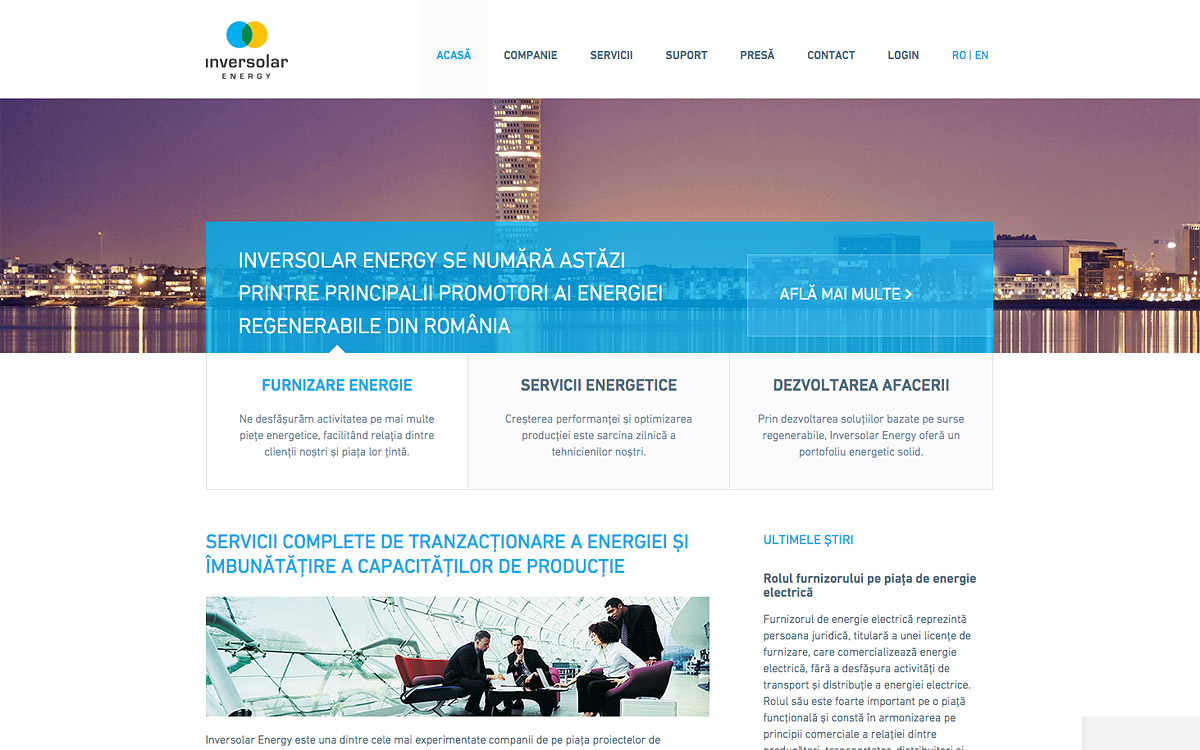 Inversolar Energy website preview
