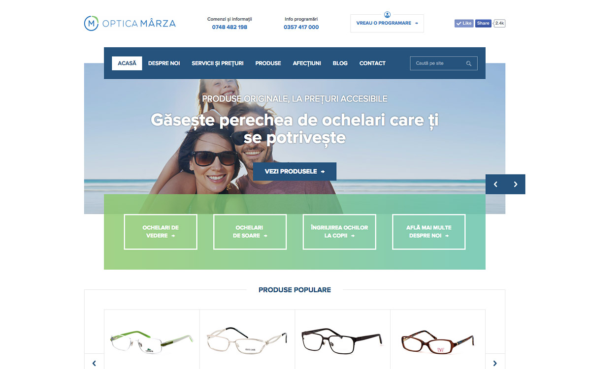 Optica Marza website
